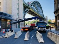 Tyne Bridge with Barriers Installed